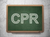 Medicine concept: CPR on chalkboard background Stock Images