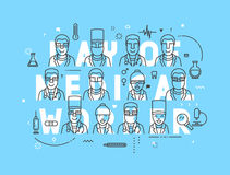 Medicine concept design day of medical worker. Stock Photography