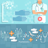 Medicine concept doctor professional hospital ambulance Royalty Free Stock Images