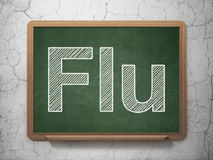 Medicine concept: Flu on chalkboard background Royalty Free Stock Photography