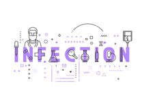 Medicine concept infection Stock Photography