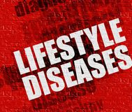 Medicine concept: Lifestyle Diseases on Red Brick Wall . Royalty Free Stock Image