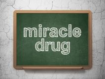 Medicine concept: Miracle Drug on chalkboard background Royalty Free Stock Photography
