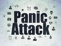 Medicine concept: Panic Attack on Digital Data Paper background. Medicine concept: Painted black text Panic Attack on Digital Data Paper background with  Hand Royalty Free Stock Photos