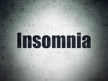 Medicine concept: Insomnia on Digital Data Paper background. Medicine concept: Painted black word Insomnia on Digital Data Paper background Royalty Free Stock Photography