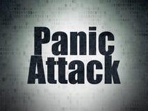 Medicine concept: Panic Attack on Digital Data Paper background. Medicine concept: Painted black word Panic Attack on Digital Data Paper background Stock Photo