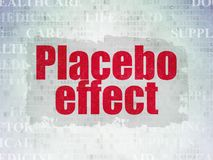 Medicine concept: Placebo Effect on Digital Data Paper background. Medicine concept: Painted red text Placebo Effect on Digital Data Paper background with   Tag Royalty Free Stock Photos