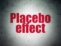 Medicine concept: Placebo Effect on Digital Data Paper background. Medicine concept: Painted red word Placebo Effect on Digital Data Paper background Royalty Free Stock Photography