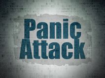 Medicine concept: Panic Attack on Digital Data Paper background. Medicine concept: Painted blue text Panic Attack on Digital Data Paper background with   Tag Stock Images