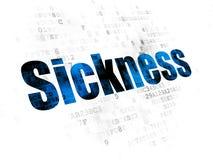 Medicine concept: Sickness on Digital background. Medicine concept: Pixelated blue text Sickness on Digital background Stock Photos
