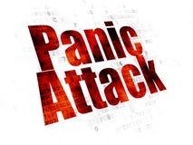 Medicine concept: Panic Attack on Digital background. Medicine concept: Pixelated red text Panic Attack on Digital background Royalty Free Stock Photo