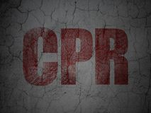 Medicine concept: CPR on grunge wall background Stock Photo
