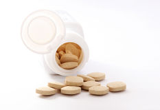 Medicine containers Royalty Free Stock Images