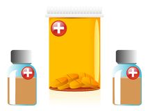 Medicine containers Royalty Free Stock Photography