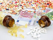Medicine cost Stock Photography