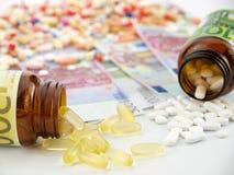 Medicine cost Royalty Free Stock Photos