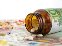 Medicine cost Stock Photos