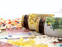Medicine cost Stock Images