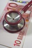 Medicine costs money Stock Photos