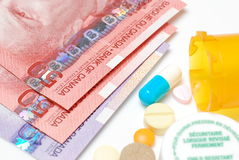 Medicine costs money Stock Photography