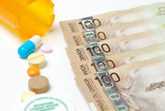 Medicine costs money Royalty Free Stock Photography