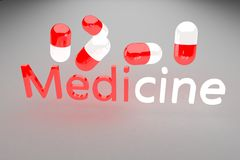 Medicine 3d render Royalty Free Stock Photos