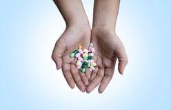 Medicine della mano Fotografia Stock