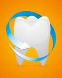 Medicine Dent Care. Concern for the health of teeth Stock Images