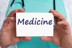 Medicine diagnosis disease ill illness healthy health doctor Stock Image