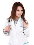 Medicine doctor girl with stethoscope. Royalty Free Stock Image