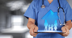 Medicine doctor hand working Stock Image