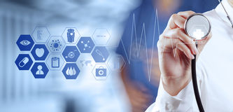 Medicine doctor hand working stock photography