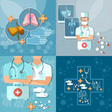 Medicine doctor in hospital  therapist operating x-ray flat set Royalty Free Stock Image