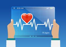 Medicine doctor monitoring the status of cardiogram Stock Photography