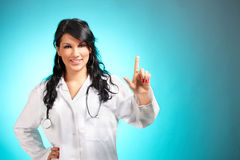 Medicine doctor pointing at something Stock Image