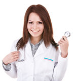 Medicine doctor with stethoscope. Royalty Free Stock Photo