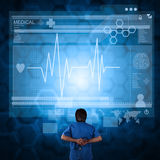 Medicine doctor working with modern computer Royalty Free Stock Image