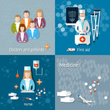 Medicine: doctors and patients Stock Photography