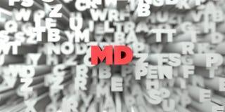 medicine doktor - Röd text på typografibakgrund - 3D framförde fri materielbild för royalty stock illustrationer