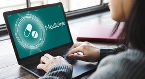 Medicine Drugs Reminder Healthcare Graphic Concept. Medicine Drugs Healthcare Graphic Concept royalty free stock photos