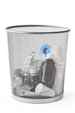 Medicine In Dustbin Stock Photography