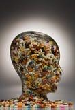 Medicine e ridurre in pani per curare malattia Fotografia Stock