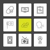 Medicine , ecg , report , medical , medicine,  speak , radio , f. An , icon, vector, design,  flat,  collection, style, creative,  icons - This Vector EPS 10 Vector Illustration