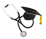 Medicine education concept with a Stethoscope Stock Photography