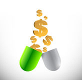 Medicine expensive prices concept illustration Stock Photography