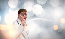Medicine exploration Stock Image