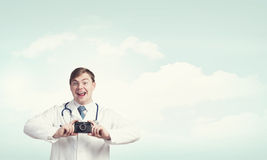 Medicine exploration Royalty Free Stock Image