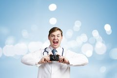 Medicine exploration Stock Photos