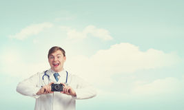 Medicine exploration Royalty Free Stock Photo