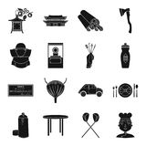 Medicine, finance, art and other web icon in black style. Medicine, finance, art and other  icon in black style.travel, sport, profession icons in set Royalty Free Stock Image